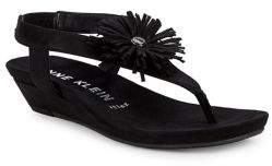 Anne Klein Isotta Fringe-Trim Thong Sandals