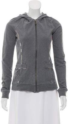 Burberry Zip-Up Knit Sweater