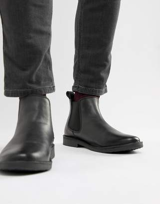 Jack and Jones leather chelsea boots