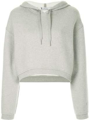 Alexander Wang cropped dense fleece hoodie