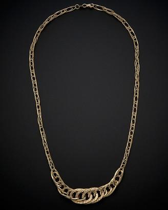 14K Italian Gold Flat Link Necklace