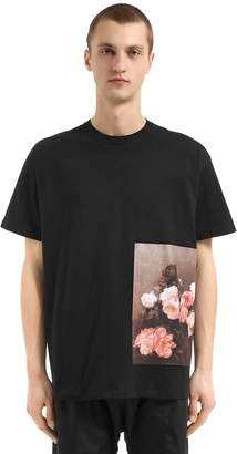 Raf Simons Roses Printed Cotton Jersey T-Shirt