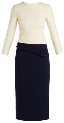 Carl Kapp - Dunaway Wool Crepe Pencil Dress - Womens - Navy Multi