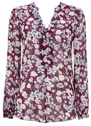 Wallis Berry Floral Print Shirt