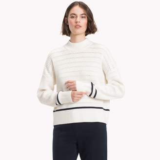 Tommy Hilfiger Relaxed Fit Mock Neck Sweater