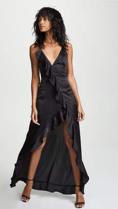 For Love & Lemons Isabella Ruffled Maxi Dress