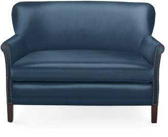 Serena & Lily Belgian Club Loveseat with Nailheads