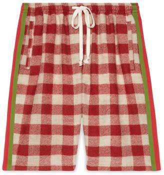 Gucci Oversize check wool shorts