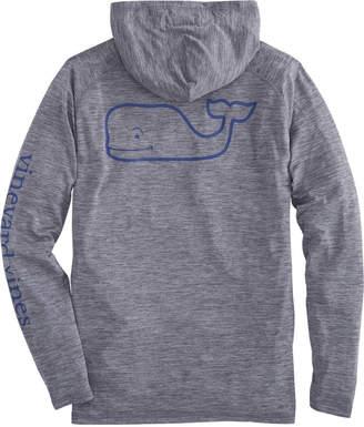 Vineyard Vines Long-Sleeve Heathered Performance Raglan Hoodie Whale T-Shirt