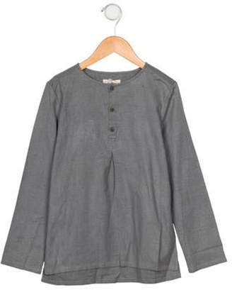 Anais & I Girls' Woven Button-Up Blouse w/ Tags grey Anais & I Girls' Woven Button-Up Blouse w/ Tags