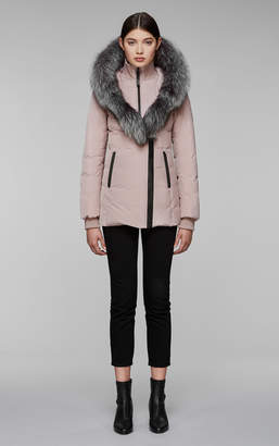 Mackage ADALI-X fitted winter down coat with hood and natural fur