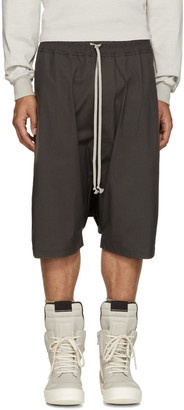 Rick Owens Taupe Pods Shorts $550 thestylecure.com