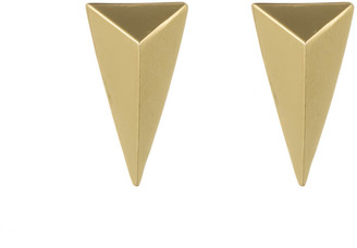 Alexis Bittar Gold Pyramid Post Earring