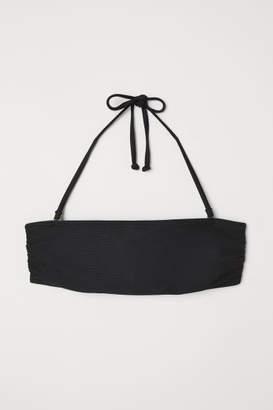 H&M Padded Bandeau Bikini Top - Black