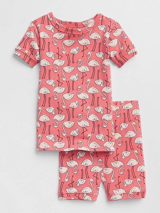 Flamingo Short Sleep Set