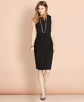 Brooks Brothers Ruched Ponte Sheath Dress