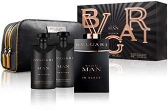 Bvlgari Man In Black by for Men Gift Set - 3.4 oz Eau De Parfum Spray + 2.5 oz After Shave Balm +2.5 oz Shower Gel + Free Pouch