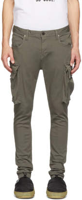 Diet Butcher Slim Skin Green Loose Fit Cargo Pants