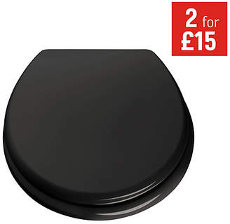 ColourMatch Moulded Wood Toilet Seat - Jet Black