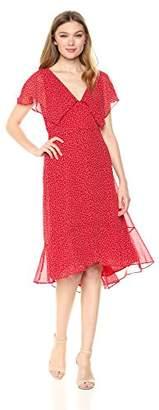 Max Studio Women's Cap Sleeve Polka Dot Dress