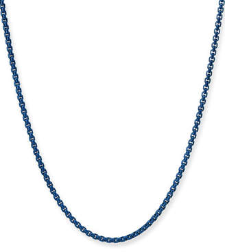 """David Yurman Men's Acrylic-Coated Stainless Steel Box Chain Necklace, 26"""""""