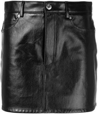 Helmut Lang five pocket leather mini