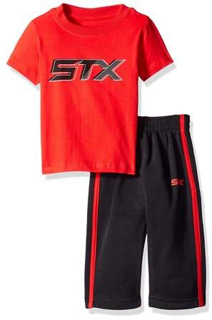 STX Active Performance Short Sleeve Tee and Fleece Pant 2 Piece Set (Big Boys)