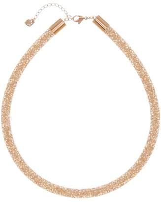 Swarovski Stardust Crystal Filled Mesh Necklace $125 thestylecure.com