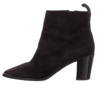 Acne Studios Suede Ankle Boots Black Suede Ankle Boots