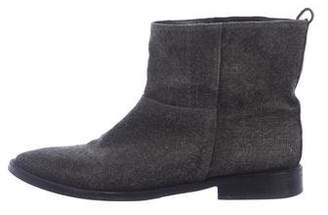 Theyskens' Theory Woven Ankle Boots