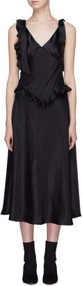 The One Maggie Marilyn 'You're the One' ruffle tie shoulder silk dress