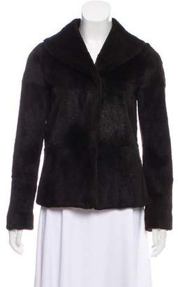 Barneys New York Barney's New York Collared Fur Jacket