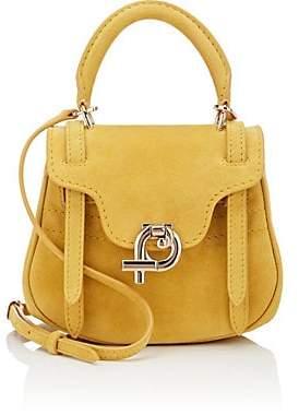 Fontana Milano Women's Mimosa Mini Suede Crossbody Bag - Yellow