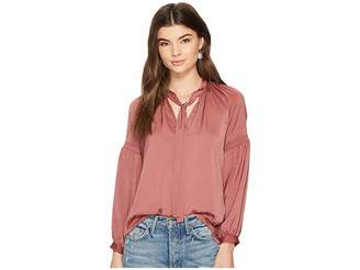 Lucky Brand Jenna Peasant Top Women's Long Sleeve Pullover