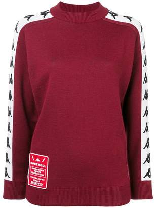 Kappa side panelled knitted sweater
