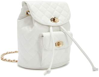 Forever 21 Faux Leather Quilted Mini Backpack