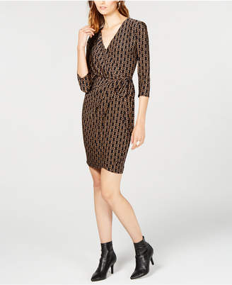 INC International Concepts I.N.C. Printed Faux-Wrap Dress, Created for Macy's