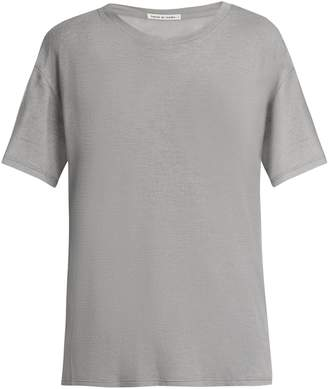 FRANCES DE LOURDES Johnny round-neck cashmere and silk-blend T-shirt