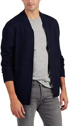Barneys New York MEN'S WOOL ZIP-FRONT SWEATER