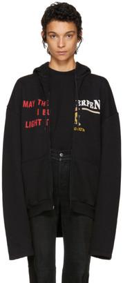 Vetements Black 'May The / Antwerp' Zip Hoodie $1,150 thestylecure.com