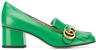 Gucci monogram fringe detail pumps