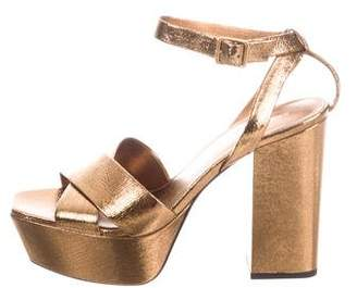 Saint Laurent Metallic Platform Pumps w/ Tags