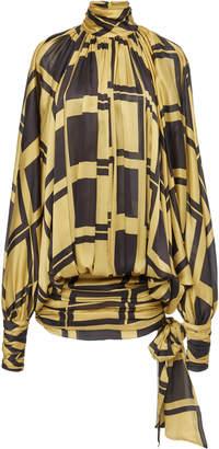 Zimmermann Resistance Two-Tone Square-Print Silk Dress Size: 1