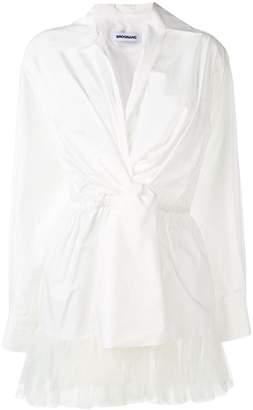 dca090210bf56 White Cotton Wrap Blouse - ShopStyle