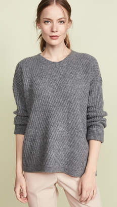 Vince Side Slit Crew Neck Sweater