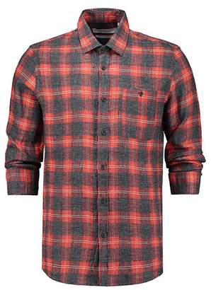 THE GOODPEOPLE Seat Linen Flannel Check Shirt