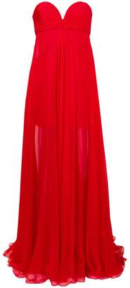Valentino long sweetheart neck gown