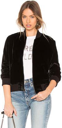 Monrow Velvet Bomber Jacket