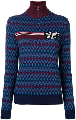 Prada half zip knitted sweater