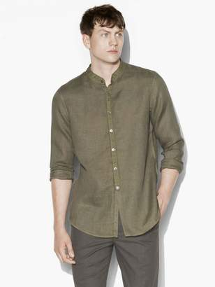 John Varvatos Band Collar Long Shirt